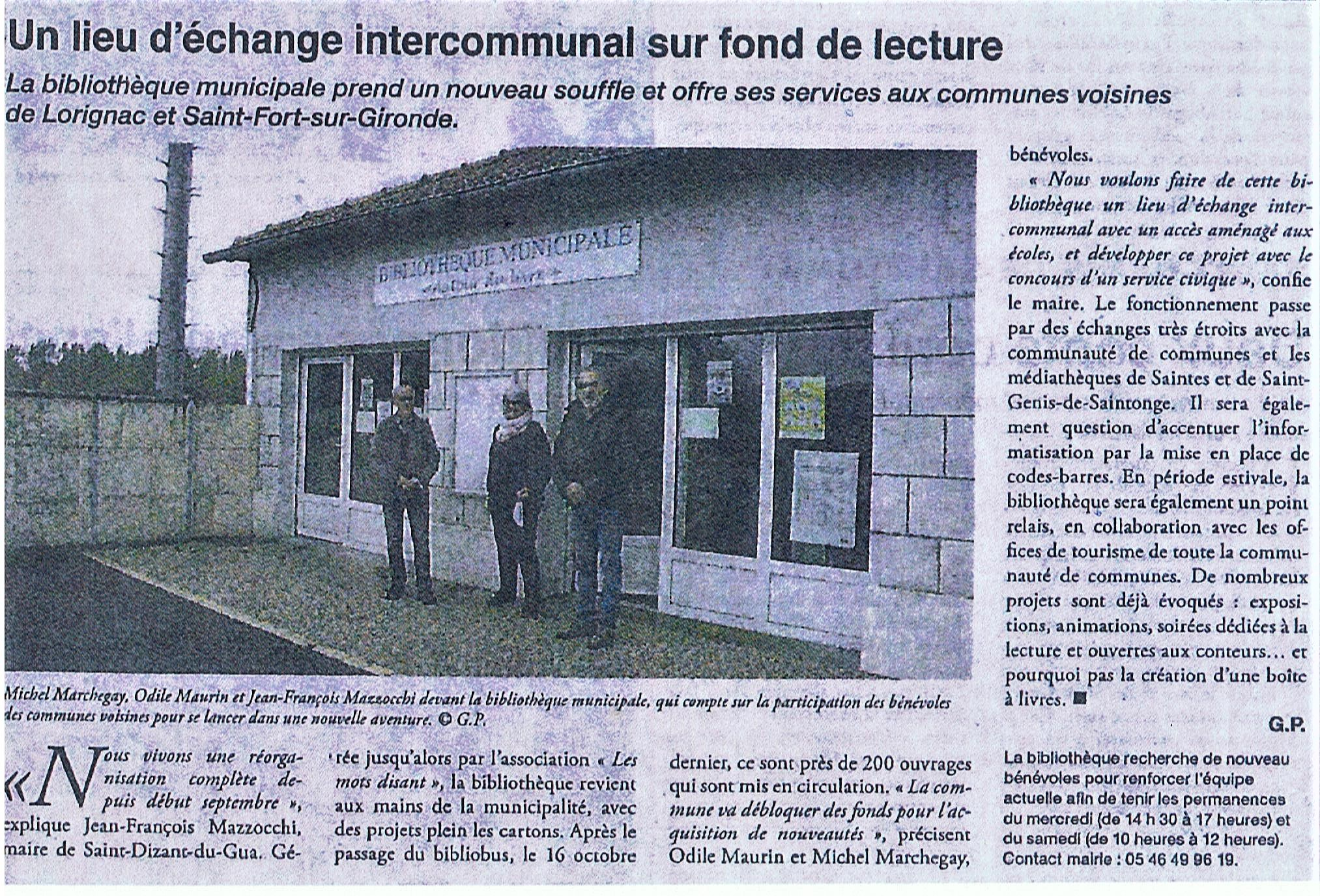 Article Haute Saintonge